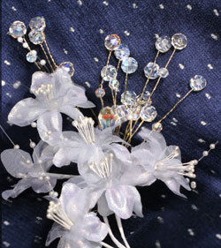 wedding crystal flowers