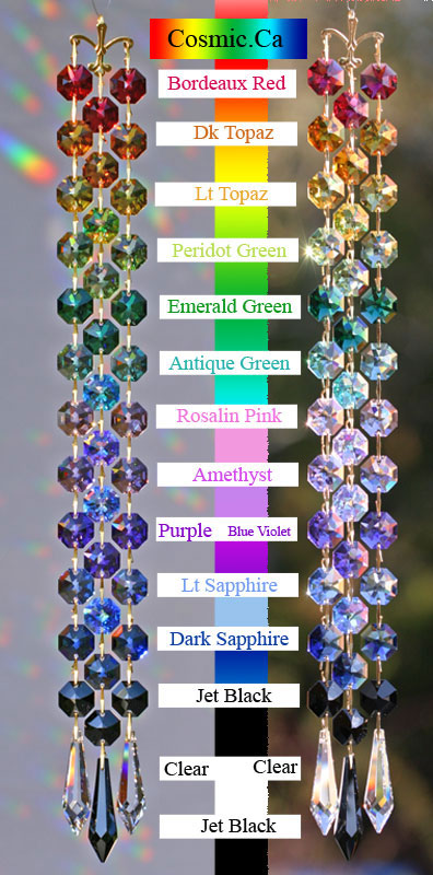 Swarovski hanging colored crystal prisms swarovski crystal color chart aloadofball Gallery