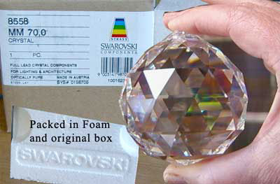 70 mm Swarovski Strass Logo Etched packed in foam   box d32557e8ae