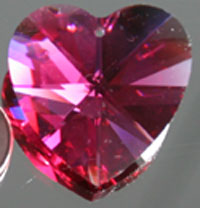 Swarovski Bordeaux Red Valentine Heart