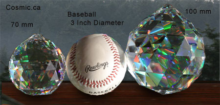 Faceted Feng Shui Balls- Strass & Spectra by Swarovski
